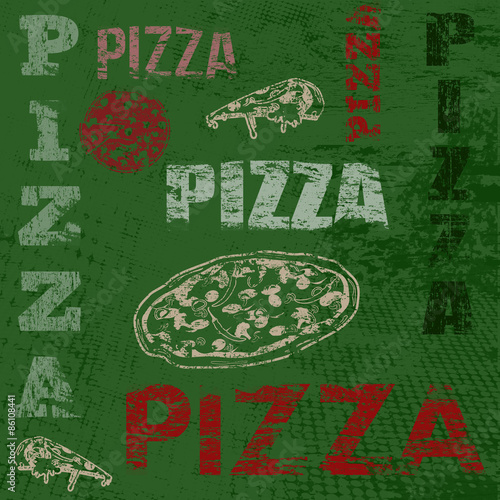 Pizza retro poster - 86108441