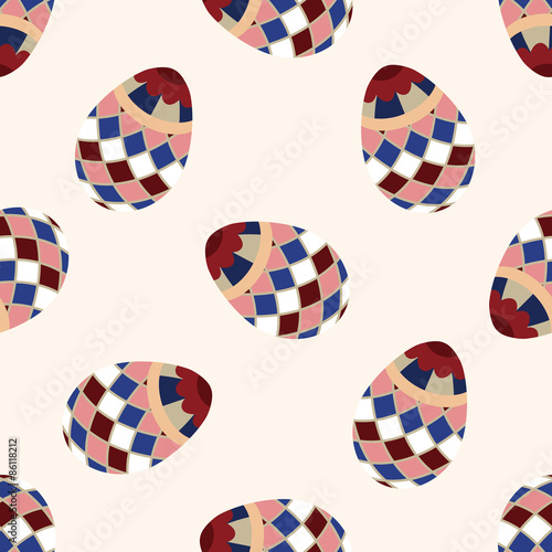 Cotton fabric easter egg icon 10,seamless pattern