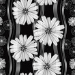 Seamless vector pattern with abstract flowers.