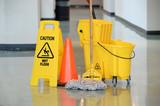 Wet Floor Sign With Mop - 86156627