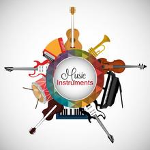 Music instruments design.