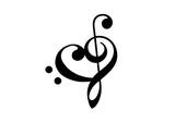 Notenschlüssel Mit Herz : bassschl ssel notenschl ssel herz musik klassik ~ Watch28wear.com Haus und Dekorationen