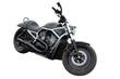 Detaily fotografie Black modern motorcycle