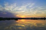 Fotoroleta     sunset over the lake. sunset over the lake.