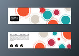 Fototapety Abstract circle background modern banner design template-Vector