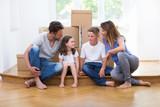 Familie beim Umzug