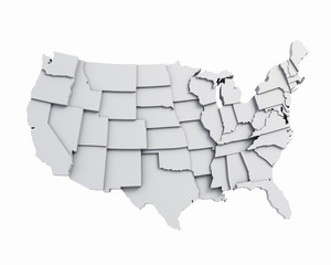 3D USA map white © LogoStockimages