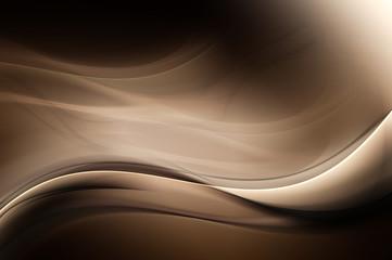 Brown Dark Light Abstract Waves Background