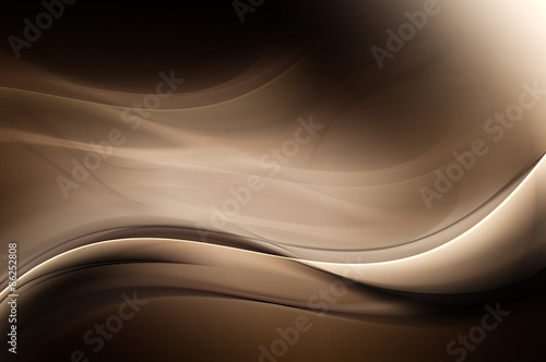 Brown Dark Light Abstract Waves Background