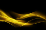 Fantastic Orange Yellow Light Abstract Waves Background