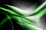 Amazing Green Abstract Waves Background