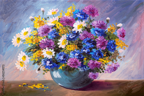 oil painting - bouquet of wildflowers © Fresh Stock