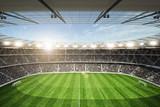 Stadion Blick von oberer Tribüne