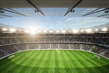 Fototapeta stadion piłkarski z górnej trybuny