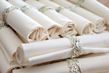 Fototapety set napkins with rings