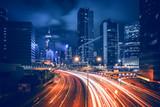 Fototapety Prosperous Hong Kong city night scenes 2015