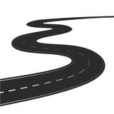 Fototapety Winding road isolated