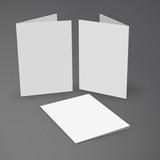 vector illustration of Illustration of Blank brochure. 3d illust