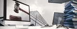 Fototapeta Composite image of computer screen