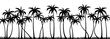 Palm trees silhouette seamless vector pattern