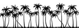 Palm trees silhouette seamless vector pattern - 86337689