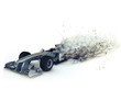 3D Generic racing car with speed effect