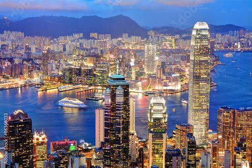 Plakat 香港の夜景