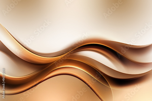 Fototapeta Dark Gold Amazing Abstract Waves Background