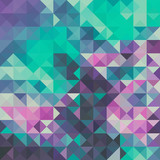 Fototapety Triangle background, green and violet