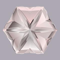 Gray pink shiny precious crystal