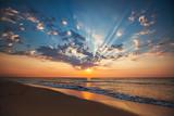 Fototapety Beautiful cloudscape over the sea, sunrise shot