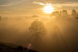 amanecer en neblina