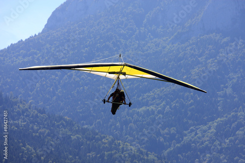 Fototapeta Hang Glider in the Alps