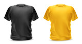 Fototapety Black and yellow t-shirt, vector isolated object