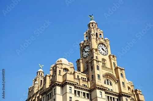 Poster The Royal Liver building, Liverpool.