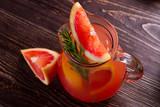 Fototapeta Grapefruit lemonade.