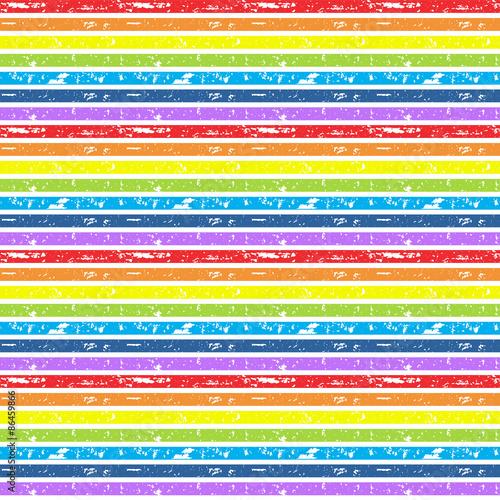 Seamless cute vector rainbow background