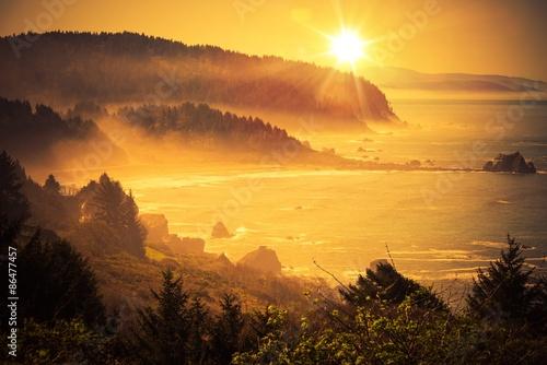 mata magnetyczna Kalifornia Coastal Sunset