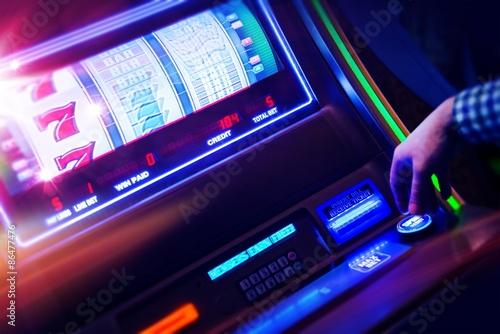 Poster Casino Slot Machine Player