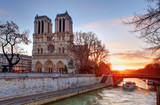 Paris - Notre Dame at sunrise, France - Fine Art prints
