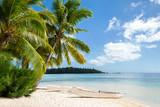Fototapety Traumurlaub auf einer einsamen Insel in der Karibik