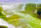 Fotoroleta Rainbow at the Waterfall Diablo Throat