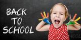 Fototapety Happy child back to school