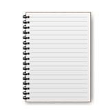 Blank realistic spiral notebook with shadow - 86542099