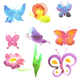 Fototapeta Motyle - butterflies design © aboard