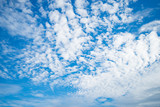 Blue sky with cloud ozone summer poster