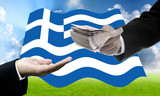 Creditors offer more loan, Greece's Debt Crisis concept poster