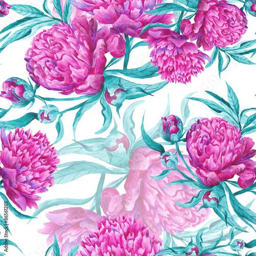 Fototapeta Romantic Watercolor Pattern