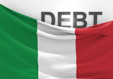 Italy national debt and budget deficit financial crisis