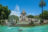 Fototapety Fountain in Parc de la Ciutadella called Cascada in Barcelona, Spain